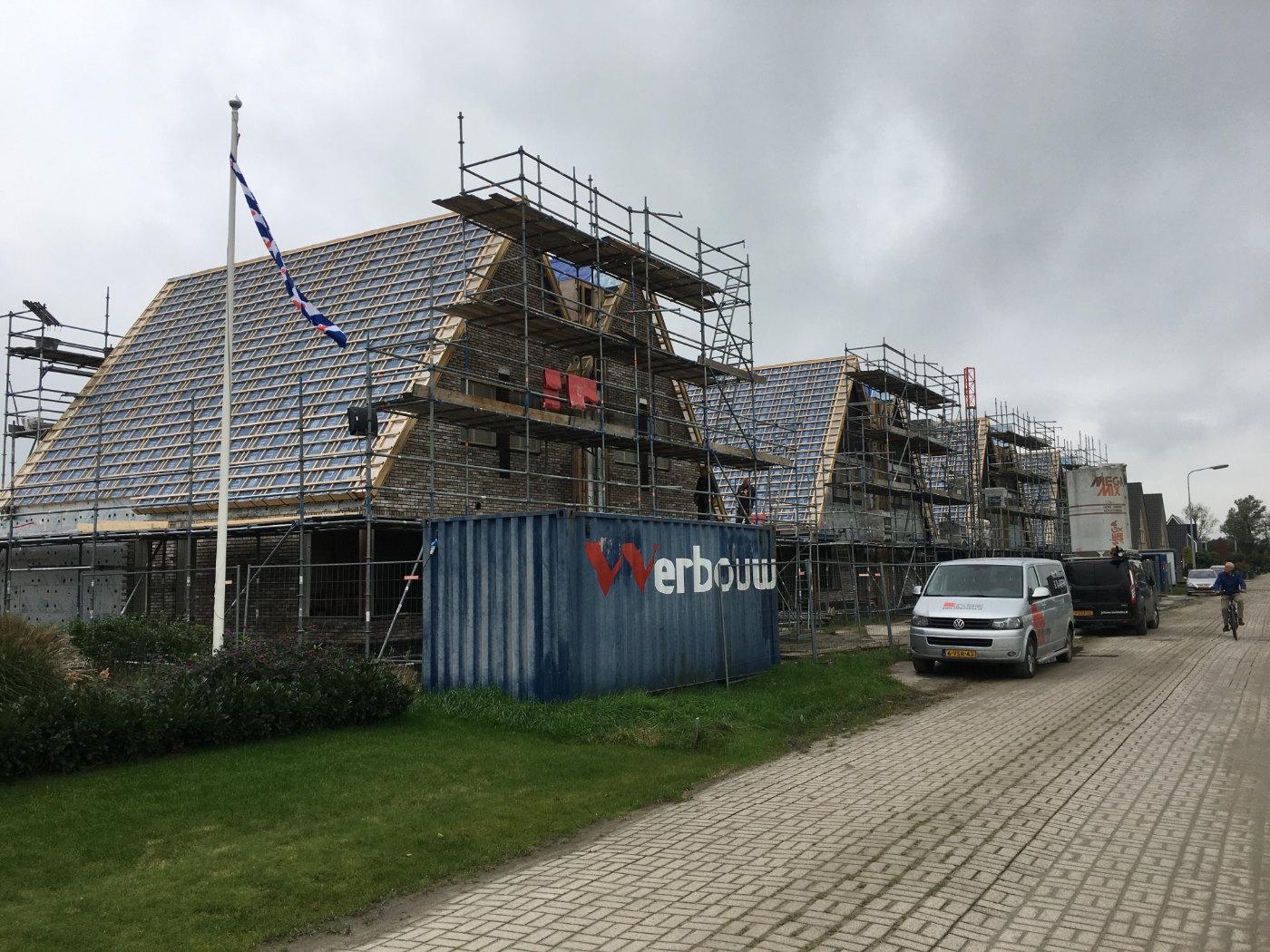Werbouw Dyksfeart woningen in aanbouw