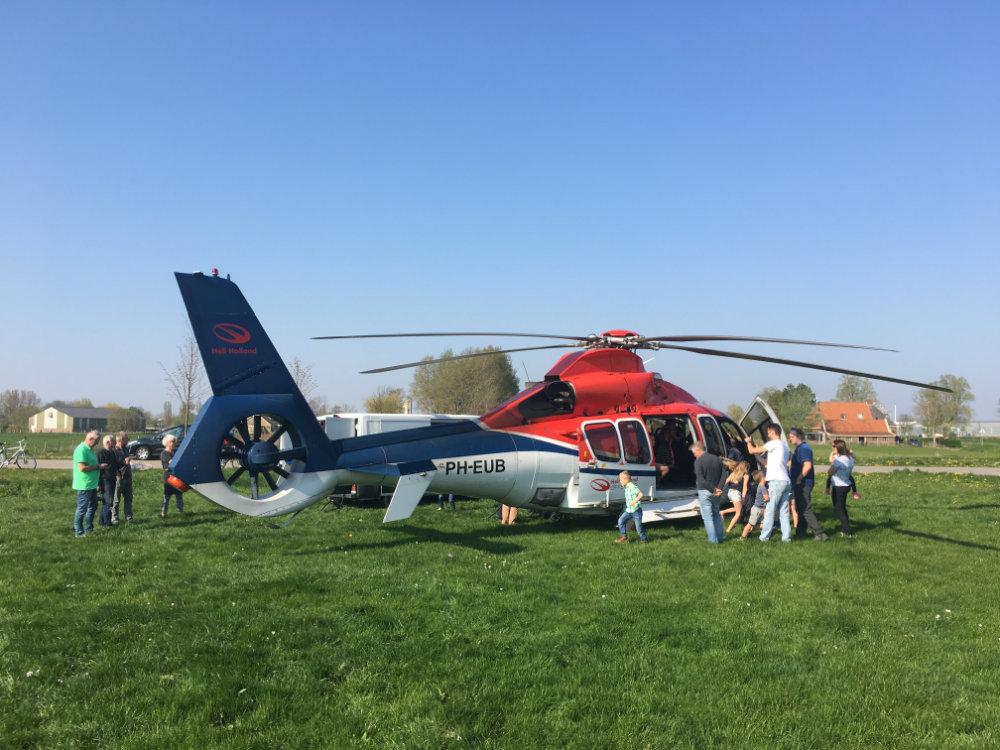Helikopter in Franeker elfstedewyk
