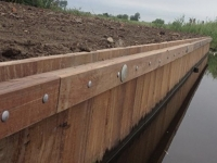 Walbeschoeiing hardhout nieuwbouw